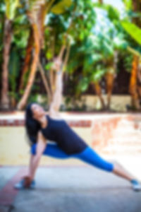 Yoga, triangle pose, outdoor excercise, Ashley krouse, ashley chaney