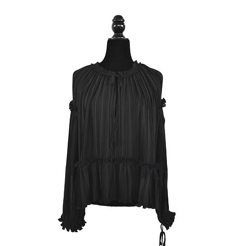 Blusa plisada negra
