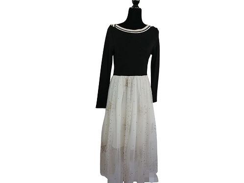 Vestido mesh bordado