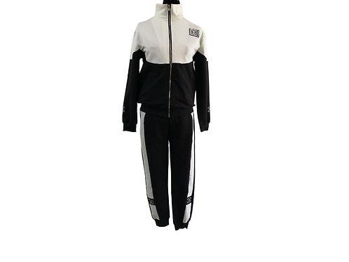 Conjunto de pants negro/blanco
