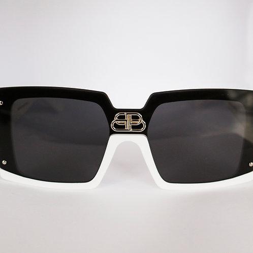 Gafas bicolor negro / blanco