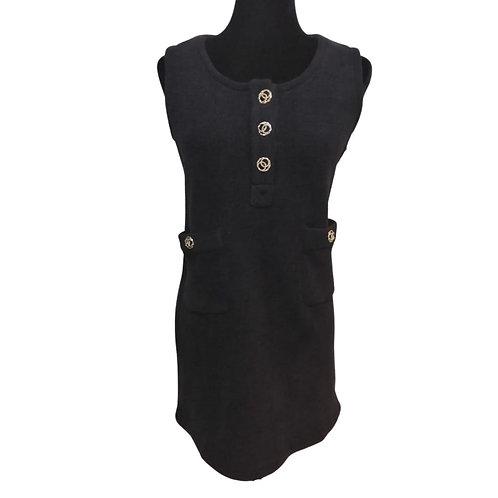 Vestido Negro Afelpado