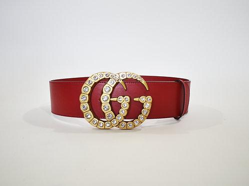 Cinturón Delgado Rojo