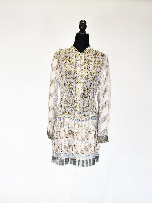 Vestido organza de seda
