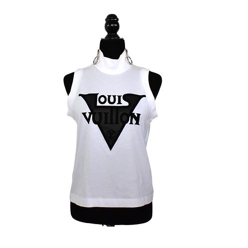 Blusa blanca sin manga