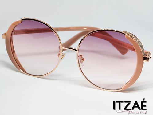 Gafas redondos rosa