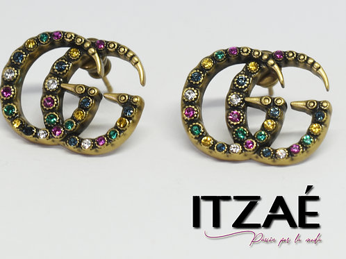 Arete logo con cristales de colores