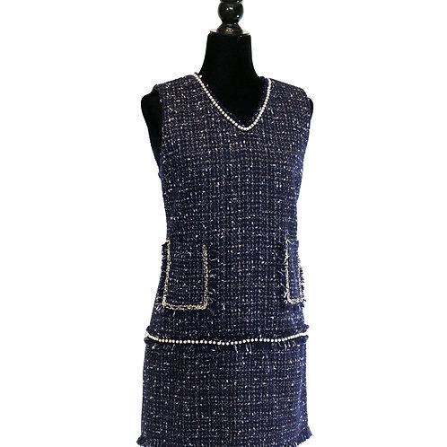 Vestido tweed sin manga