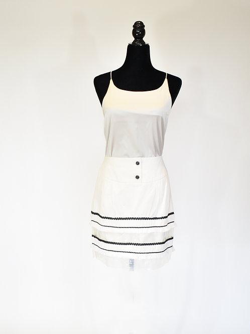 Falda corta en denim blanca