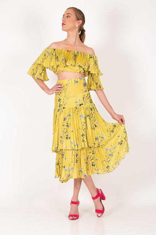 Conjunto de falda amarillo