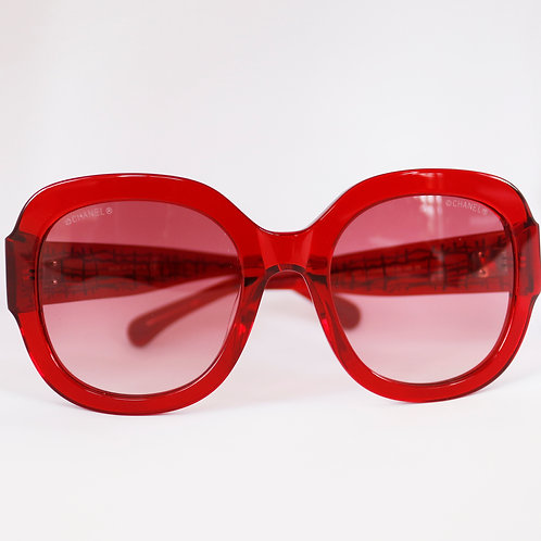Gafas ovalados rojos