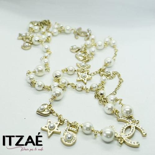 Collar cadena con perlas