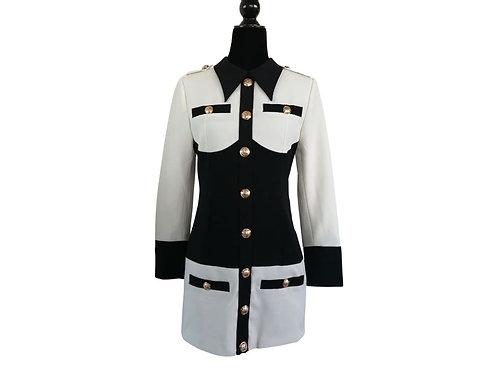 Vestido blanco /negro