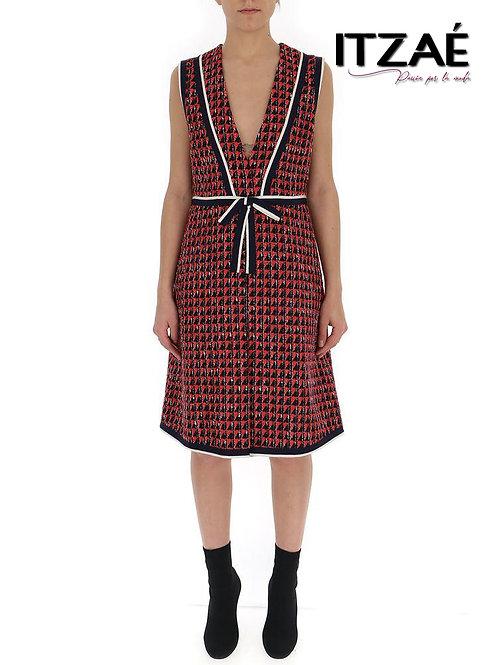 Vestido Tweed escote en V