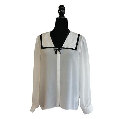 Blusa Blanca Moño