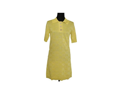 Vestido Amarillo Lurex