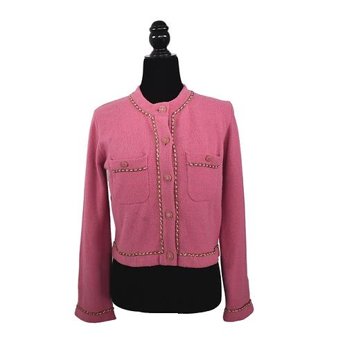 Blazer corto color rosa