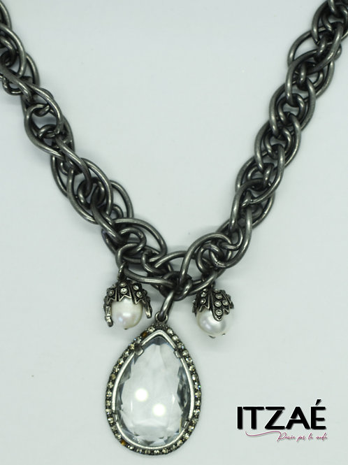 Collar cadena gris