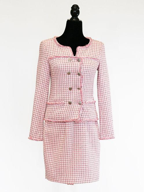 Conjunto tweed rosa
