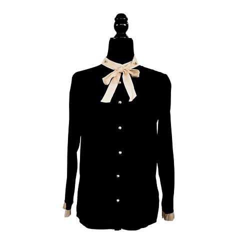 Blusa de chifón de seda