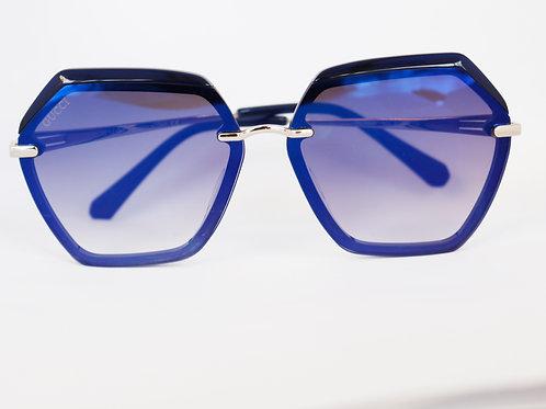Gafas hexágono azul