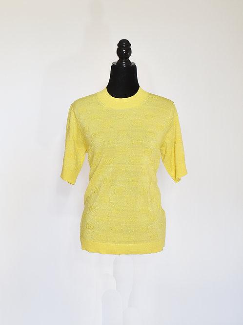 Blusa punto Lurex Amarilla