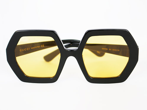 Gafas hexágono negro / amarillo