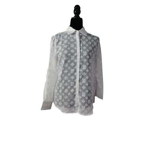 Blusa  Parches Blanca