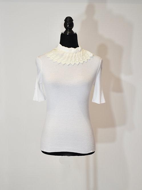 Blusa de punto color blanca
