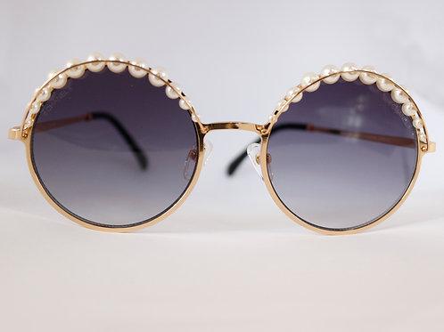Gafas circulares perlas