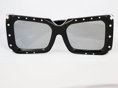 Gafas negra con cristales