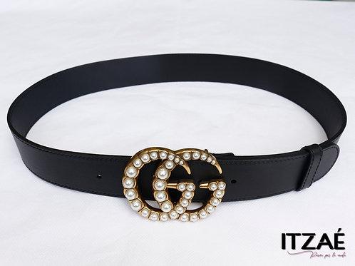 Cinturón GG hebilla perla
