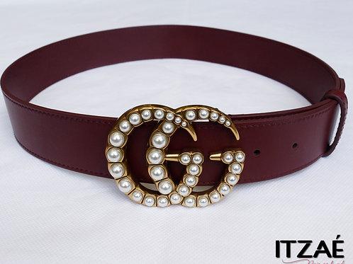 Cinturón GG hebilla de perlas