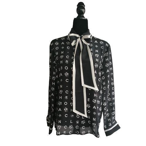 Blusa Negra Letras