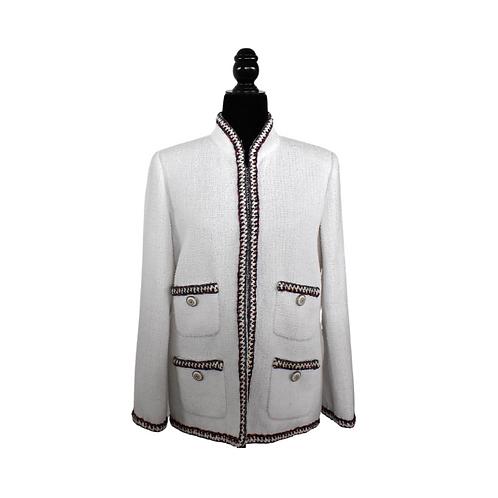 Blazer tweed en blanco