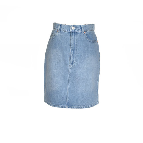 Falda recta denim