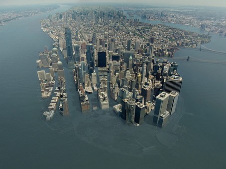 Literary fiction. Science facts: rising seas