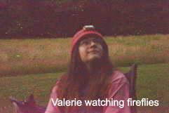 Valerie watching the fireflies