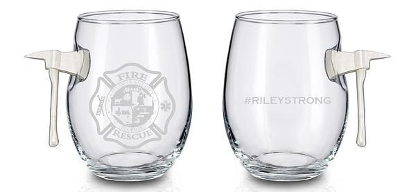 Fire Axe Wine Glass