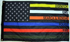 3×5′ USA Subdued First Responders Flag