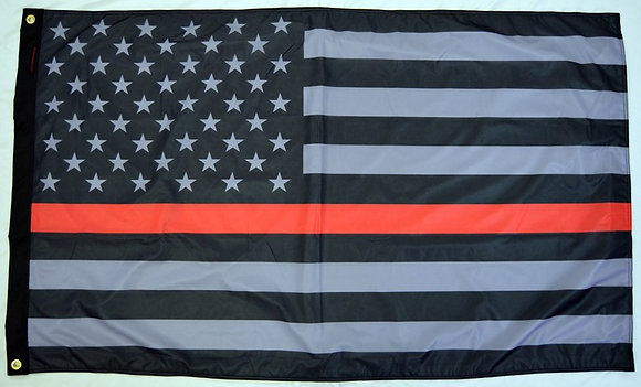 USA Subdued Thin Red Line Flag 3'×5'