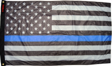 USA Subdued Thin Blue Line Flag 3'×5'