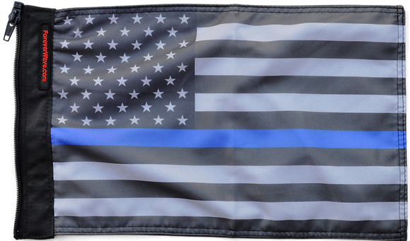 USA Subdued Thin Blue Line Flag