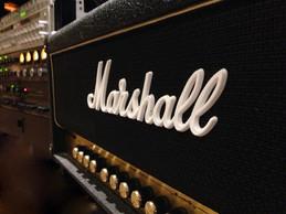 Marshall guitar amplifier. Distortion...