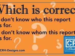 Grammar pop quiz: Who dunnit?