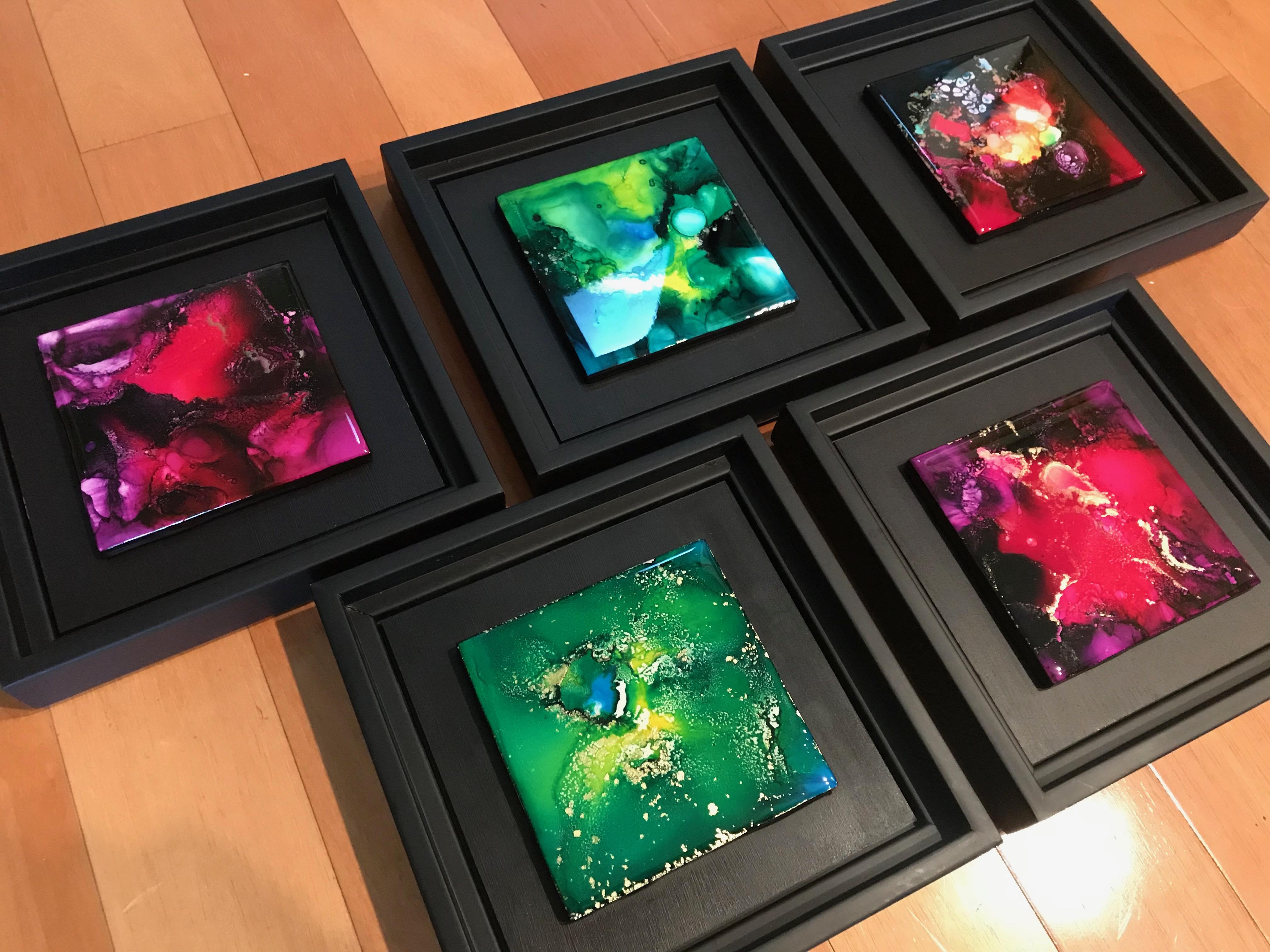 """Framed 4x4"""" Art Tiles"""
