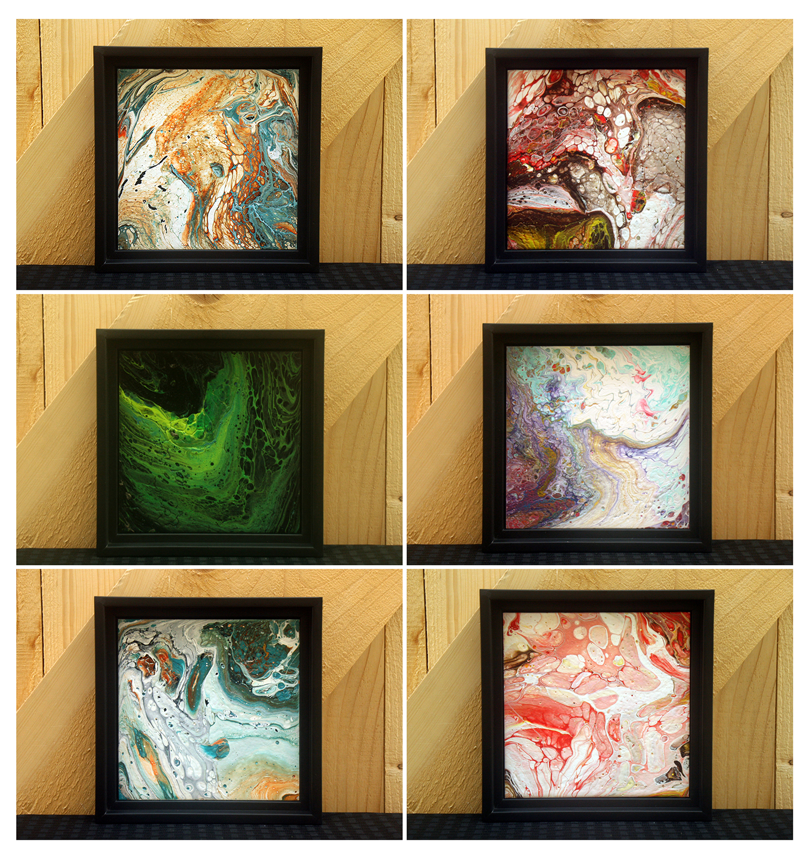 "6"" x 6"" Small Framed Pieces"