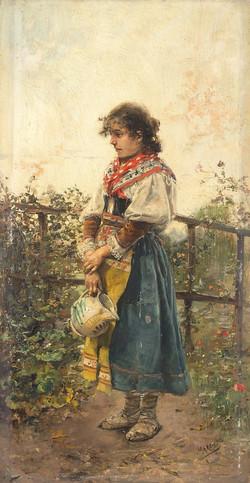 In the garden - Tabla 46x24