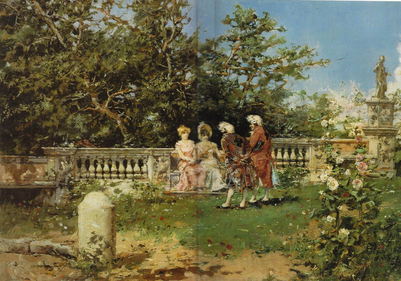 Courting in the garden