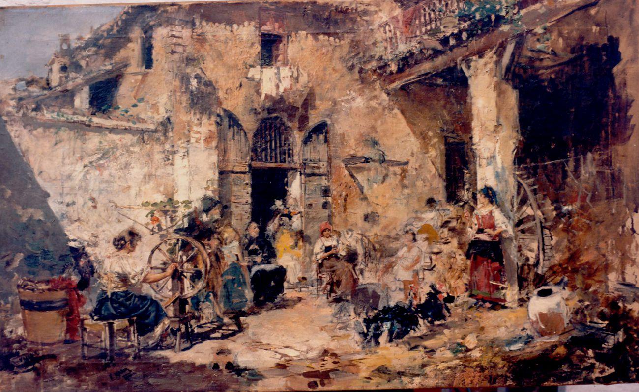 A Roman courtyard